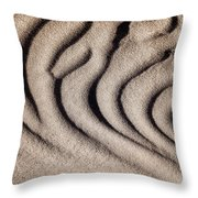 Waves Of A Desert - Mesquite Sand Dunes Throw Pillow