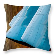 Waves Of  Blue Throw Pillow