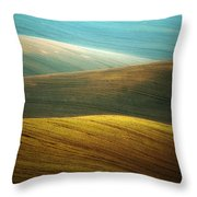 Waves Of Colours Throw Pillow