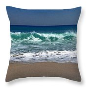 Waves Of Happiness  Throw Pillow