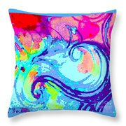 Waves Of His Love Throw Pillow