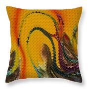 Waves Of Music Throw Pillow