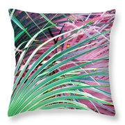 Waves Of Palm Throw Pillow