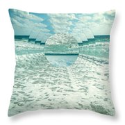 Waves Of Reflection Throw Pillow