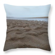 Waves Of Sand Throw Pillow