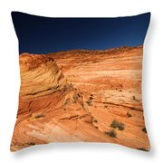 Waves Of Sandstone Throw Pillow