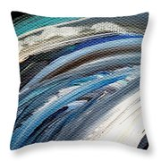Textured Waves Of Blue Throw Pillow