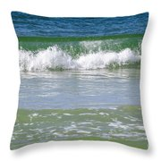 Waves Of The Gulf Of Mexico Throw Pillow