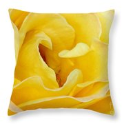 Waves Of Yellow Throw Pillow by Sabrina L Ryan