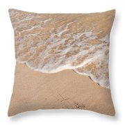 Waves On The Beach Throw Pillow