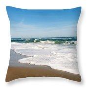 Waves On The Beach Throw Pillow
