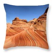 Waves Under Buttes Throw Pillow