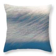 Wavy Iridescent Clouds Throw Pillow