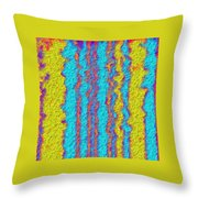 Wavy Lines Throw Pillow