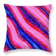 Wavy Oil Pastel Throw Pillow by Hakon Soreide
