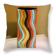 Wavy Vase Throw Pillow