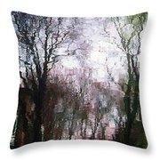 Wavy Willows Throw Pillow