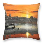 Wawel Sunrise Krakow Throw Pillow