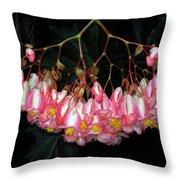 Wax Begonia Throw Pillow