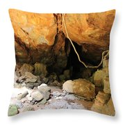Way In The Cave Throw Pillow