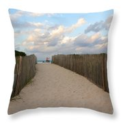 Way To The Beach Throw Pillow