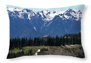 Way Up High - Hurricane Ridge - Washington Throw Pillow