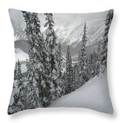 Way Up On The Mountain Throw Pillow