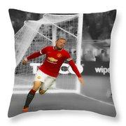 Wayne Rooney Scores Again Throw Pillow