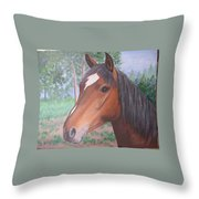 Wayne's Horse Throw Pillow