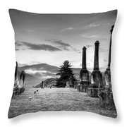 Waynesville Green Hill Cemetery Throw Pillow