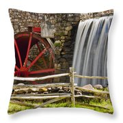Wayside Grist Mill 4 Throw Pillow