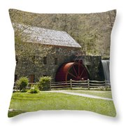 Wayside Grist Mill 6 Throw Pillow