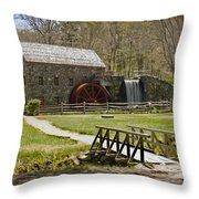 Wayside Grist Mill 8 Throw Pillow