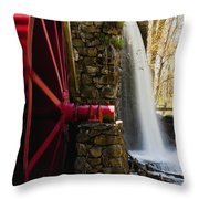 Wayside Grist Mill Throw Pillow