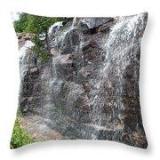 Wayside Waterfall - Acadia Np Throw Pillow