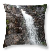 Wayside Waterfall I - Acadia Np Throw Pillow