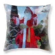 Wdw Santa Photo Art Throw Pillow