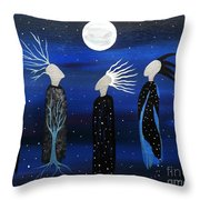 We All See The Same Moon Throw Pillow