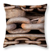 We Are All Linked Throw Pillow