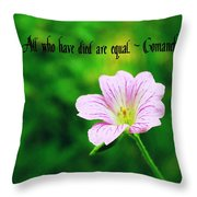 We Are Equal Throw Pillow