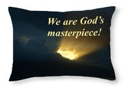 We Are God's Masterpiece Throw Pillow