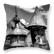 We Are Not In Kansas Anymore II Bw Throw Pillow