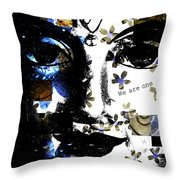 We Are One With Nature Throw Pillow