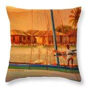 We Be Sailing Throw Pillow