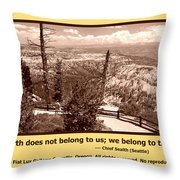 We Belong To Theearth Throw Pillow