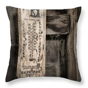 We Buy Old Horses - Vintage Thermometer Throw Pillow