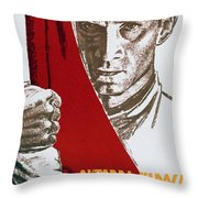 We Carry The Flag Of October Across The Centuries Throw Pillow
