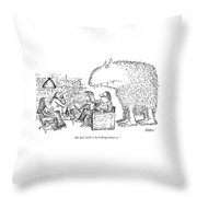 We Deal With It By Talking About It Throw Pillow by Edward Koren