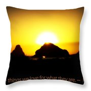 We Love The Things We Love Throw Pillow