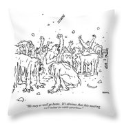 We May As Well Go Home.  It's Obvious That This Throw Pillow
